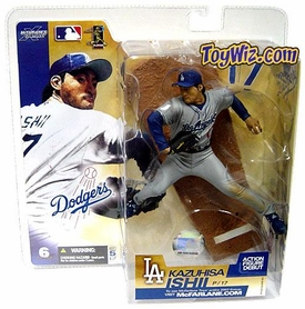 McFarlane Toys MLB Sports Picks Series 6 Action Figure Kazuhisa Ishii (Los Angeles Dodgers) Gray Jersey Variant BLOWOUT SALE!