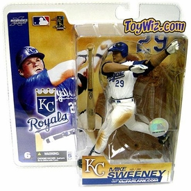 McFarlane Toys MLB Sports Picks Series 6 Action Figure Mike Sweeney (Kansas City Royals) White Jersey Variant