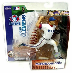McFarlane Toys MLB Sports Picks Series 6 Action Figure Roger Clemens (Toronto Blue Jays) Retro Jersey Variant [Sun Damaged, Mint Contents]