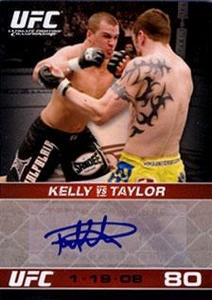Topps UFC Ultimate Fighting Championship Single Card Round 1 Autograph Card Paul Kelly #A-PK