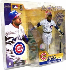 McFarlane Toys MLB Sports Picks Series 6 Action Figure Sammy Sosa (Chicago Cubs) White Jersey Variant BLOWOUT SALE!