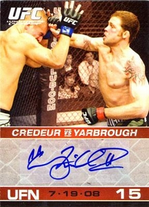 Topps UFC Ultimate Fighting Championship Single Card Round 1 Autograph Card Tim Credeur #A-TC