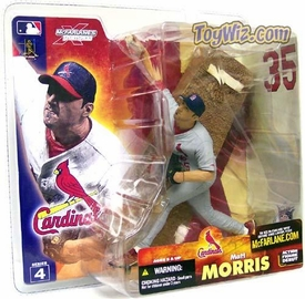 McFarlane Toys MLB Sports Picks Series 4 Action Figure Matt Morris (St. Louis Cardinals) Gray Jersey Varaiant