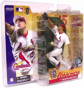 McFarlane Toys MLB Sports Picks Series 6 Action Figure Jim Edmonds (St. Louis Cardinals) White Jersey