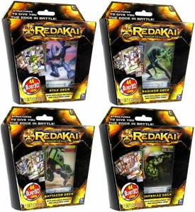 Redakai Card Game Set of 4 Structure Decks [Imperiaz, Stax, Battacor & Radikor]