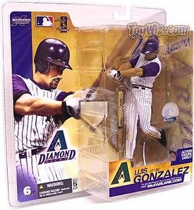 McFarlane Toys MLB Sports Picks Series 6 Action Figure Luis Gonzalez (Arizona Diamondbacks) White Jersey