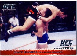 Topps UFC Ultimate Fighting Championship Single Card Round 1 Matt Hughes #8