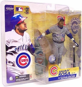 McFarlane Toys MLB Sports Picks Series 6 Action Figure Sammy Sosa (Chicago Cubs) Gray Jersey