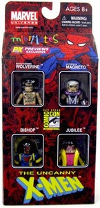 Diamond Select Marvel Minimates 2010 SDCC San Diego Comic-Con Exclusive 4-Pack 90's Era X-Men [Magneto, Wolverine, Bishop & Jubilee]