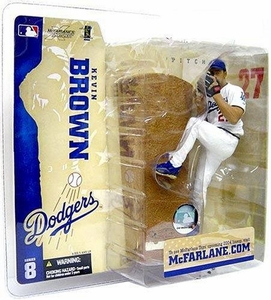 McFarlane Toys MLB Sports Picks Series 8 Action Figure Kevin Brown (Los Angeles Dodgers) LA Variant