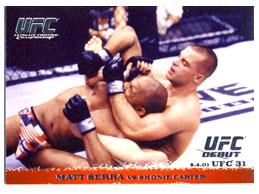 Topps UFC Ultimate Fighting Championship Single Card Round 1 Matt Serra #11