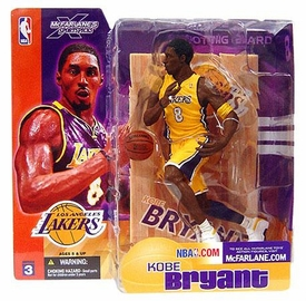 McFarlane Toys NBA Sports Picks Series 3 Action Figure Kobe Bryant (Los Angeles Lakers) Yellow Jersey Variant