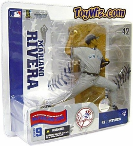 McFarlane Toys MLB Sports Picks Series 9 Action Figure Mariano Rivera (New York Yankees) Gray Jersey All Time Saves Leader!