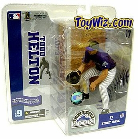McFarlane Toys MLB Sports Picks Series 9 Action Figure Todd Helton (Colorado Rockies) Purple Jersey & White Pants BLOWOUT SALE!