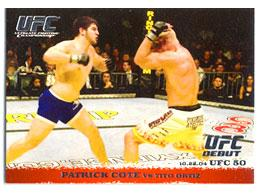 Topps UFC Ultimate Fighting Championship Single Card Round 1 Patrick Cote #18