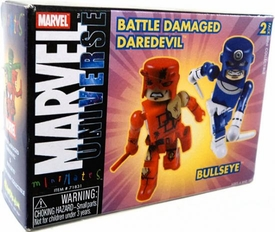 Marvel MiniMates Series 4 Battle Damaged Daredevil and Bullseye
