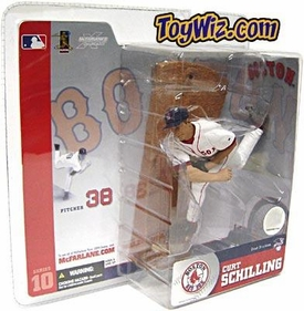 McFarlane Toys MLB Sports Picks Series 10 Action Figure Curt Schilling (Boston Red Sox) White Jersey