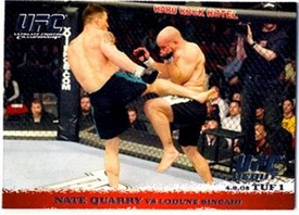 Topps UFC Ultimate Fighting Championship Single Card Round 1 Nate Quarry #22