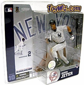 McFarlane Toys MLB Sports Picks Series 10 Action Figure Derek Jeter (New York Yankees) White Pinstripes Jersey