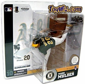 McFarlane Toys MLB Sports Picks Series 10 Action Figure Mark Mulder (Oakland Athletics) Green Jersey