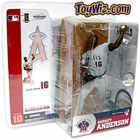 McFarlane Toys MLB Sports Picks Series 10 Action Figure Garret Anderson (Anaheim Angels) Gray Jersey
