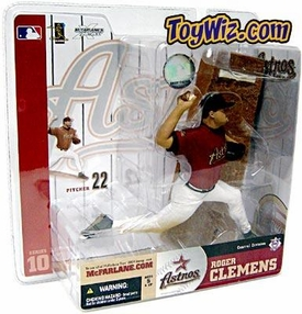 McFarlane Toys MLB Sports Picks Series 10 Action Figure Roger Clemens (Houston Astros) Red Jersey