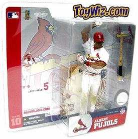 McFarlane Toys MLB Sports Picks Series 10 Action Figure Albert Pujols (St. Louis Cardinals) White Jersey