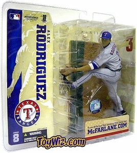 McFarlane Toys MLB Sports Picks Series 8 Action Figure Alex Rodriguez (Texas Rangers) Gray Jersey Variant