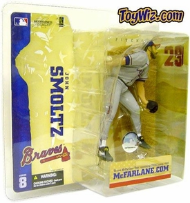 McFarlane Toys MLB Sports Picks Series 8 Action Figure John Smoltz (Atlanta Braves) Gray Jersey