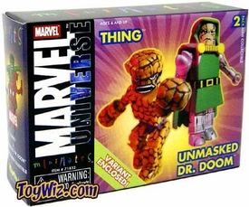 Marvel MiniMates Thing and Doctor Doom (Unmasked) Variant