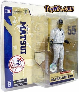 McFarlane Toys MLB Sports Picks Series 8 Action Figure Hideki Matsui (New York Yankees) Pinstripe Jersey Variant