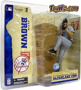 McFarlane Toys MLB Sports Picks Series 8 Action Figure Kevin Brown (New York Yankees) NY Variant