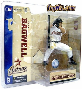McFarlane Toys MLB Sports Picks Series 8 Action Figure Jeff Bagwell (Houston Astros) White Jersey Variant