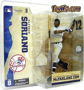 McFarlane Toys MLB Sports Picks Series 8 Action Figure Alfonso Soriano (New York Yankees) Pinstripe Jersey Variant
