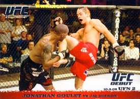Topps UFC Ultimate Fighting Championship Single Card Round 1 Jonathan Goulet #35