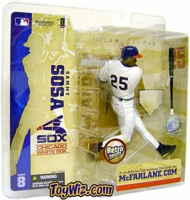 McFarlane Toys MLB Sports Picks Series 8 Action Figure Sammy Sosa (Chicago White Sox) Retro White Sox Variant