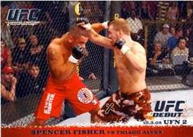 Topps UFC Ultimate Fighting Championship Single Card Round 1 Spencer Fisher #36