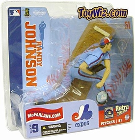 McFarlane Toys MLB Sports Picks Series 9 Action Figure Randy Johnson (Montreal Expos) Blue Retro Jersey Variant
