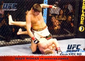 Topps UFC Ultimate Fighting Championship Single Card Round 1 Matt Wiman #40
