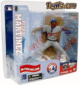 McFarlane Toys MLB Sports Picks Series 9 Action Figure Pedro Martinez (Montreal Expos) Gray Retro Jersey Variant