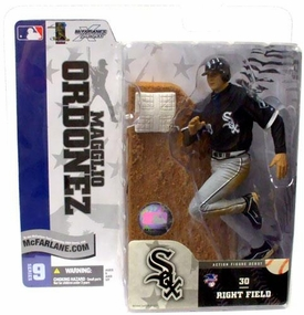 McFarlane Toys MLB Sports Picks Series 9 Action Figure Magglio Ordonez (Chicago White Sox) Black Jersey Variant