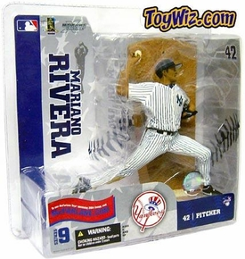 McFarlane Toys MLB Sports Picks Series 9 Action Figure Mariano Rivera (New York Yankees) White Jersey Variant All Time Saves Leader!