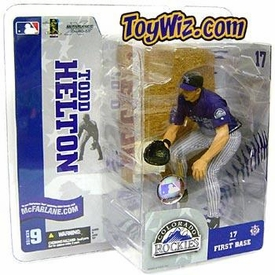 McFarlane Toys MLB Sports Picks Series 9 Action Figure Todd Helton (Colorado Rockies) Purple Jersey Gray Pants Variant