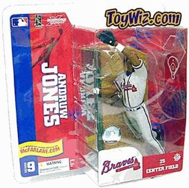 McFarlane Toys MLB Sports Picks Series 9 Action Figure Andruw Jones (Atlanta Braves) Gray Jersey Variant
