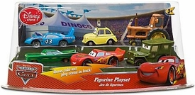 Disney / Pixar CARS Movie Exclusive Mini PVC Figure Collector Set 1 [Lightning McQueen, King, Ramone {Random Color}, Sarge, Tractor & Luigi]