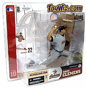 McFarlane Toys MLB Sports Picks Series 10 Action Figure Roger Clemens (Houston Astros) Gray Jersey Variant