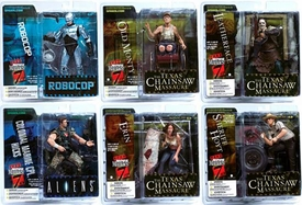 McFarlane Toys Movie Maniacs Series 7 Set of 6 Action Figures [Robocop, Colonial Marine Hicks, Leatherface, Sheriff Hoyt, Old Monty & Erin]