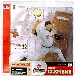 McFarlane Toys MLB Sports Picks Series 10 Action Figure Roger Clemens (Houston Astros) Gray Jersey Variant Sun Damaged Package, Mint Contents!