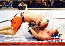 Topps UFC Ultimate Fighting Championship Single Card Round 1 Jason MacDonald #54