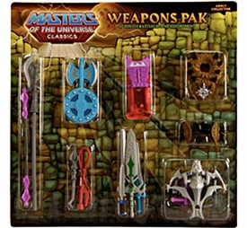 He-Man Masters of the Universe Classics Exclusive Weapons Pak Ultimate Battle Ground